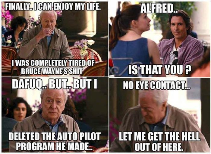 Not yet Alfred!