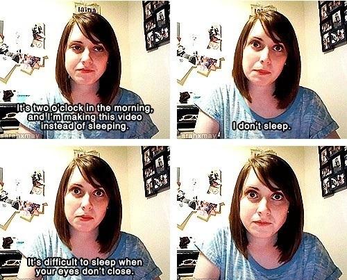 She's funny & creepy