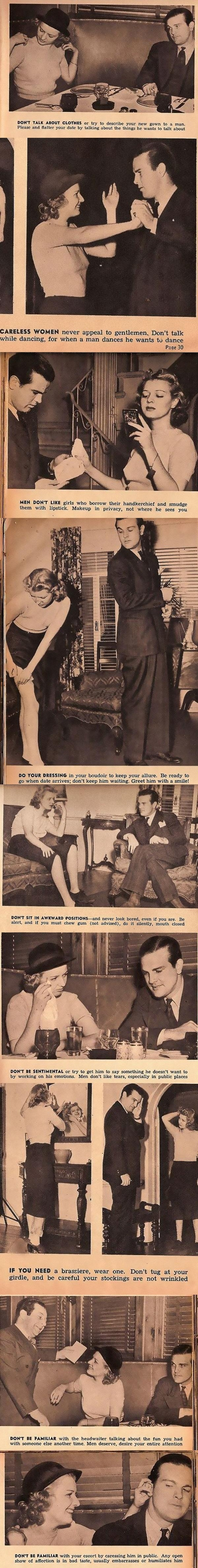 1930's dating advice