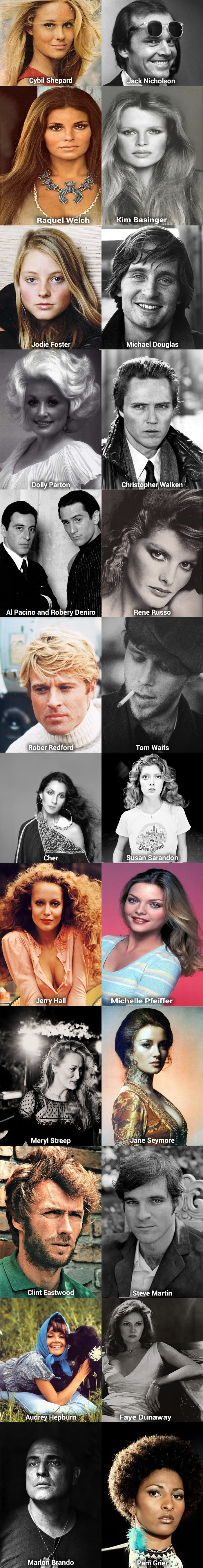 Stars from the 70s