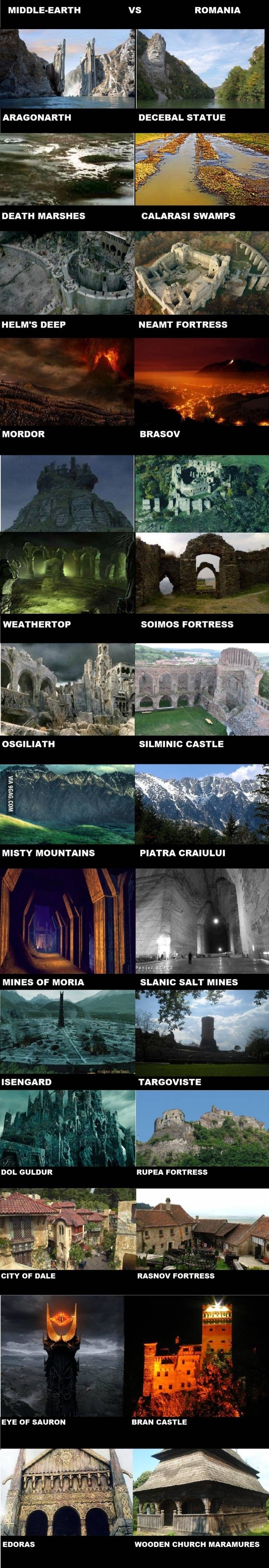 Middle Earth vs Romania