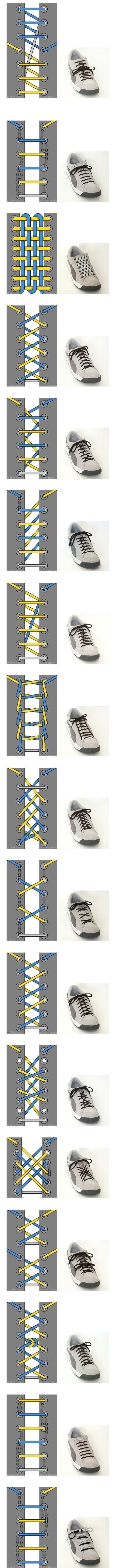 17 ways to tie shoe laces