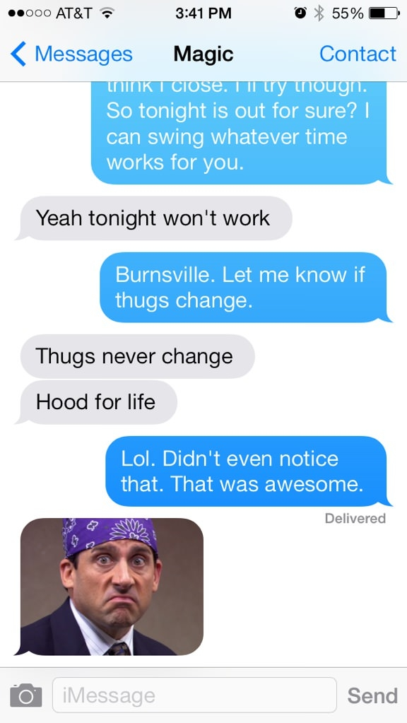 Gangsta autocorrect