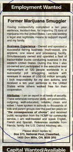 Smuggler Resume