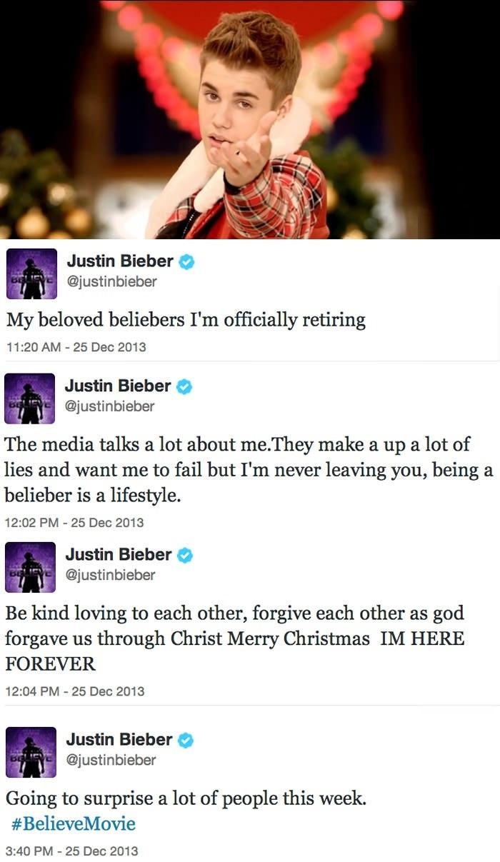 Bieber's xmas surprise
