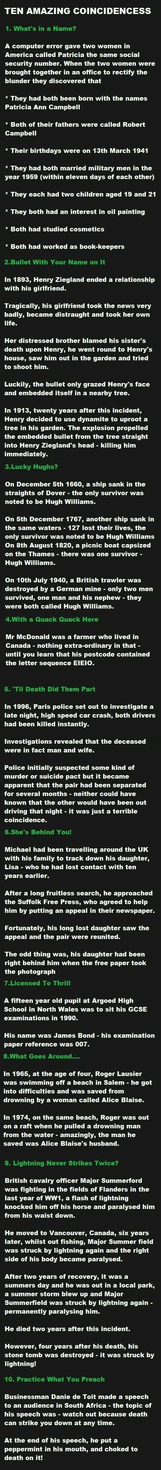 10 Amazing Facts