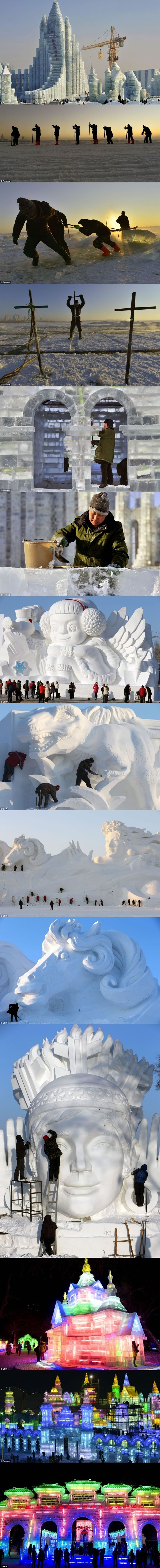Giant frozen castle