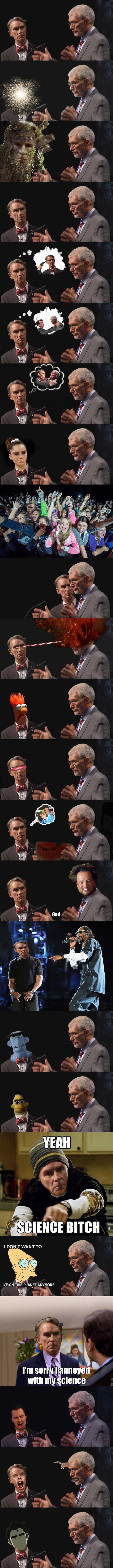 Bill Nye's face
