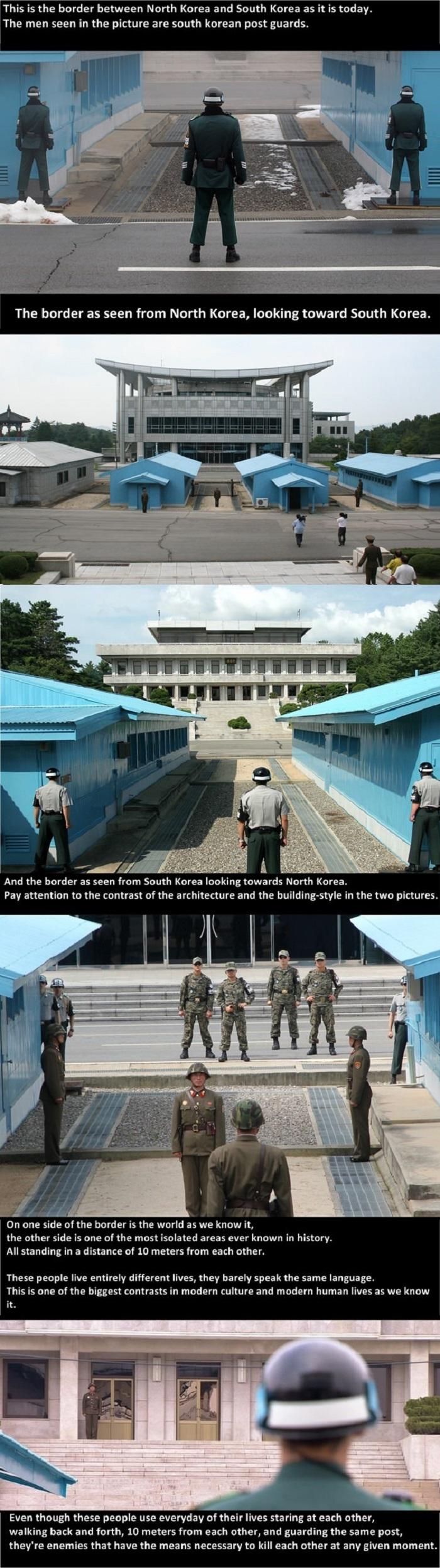 North & South Korea border