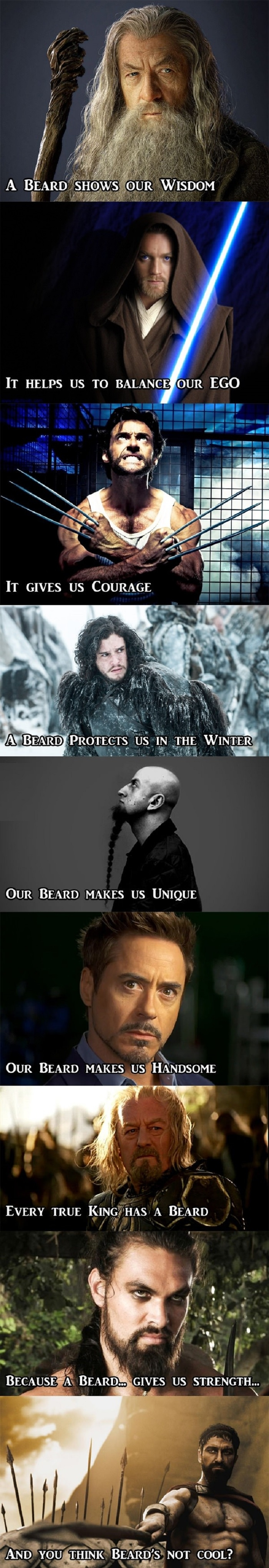So, beard's are not cool?