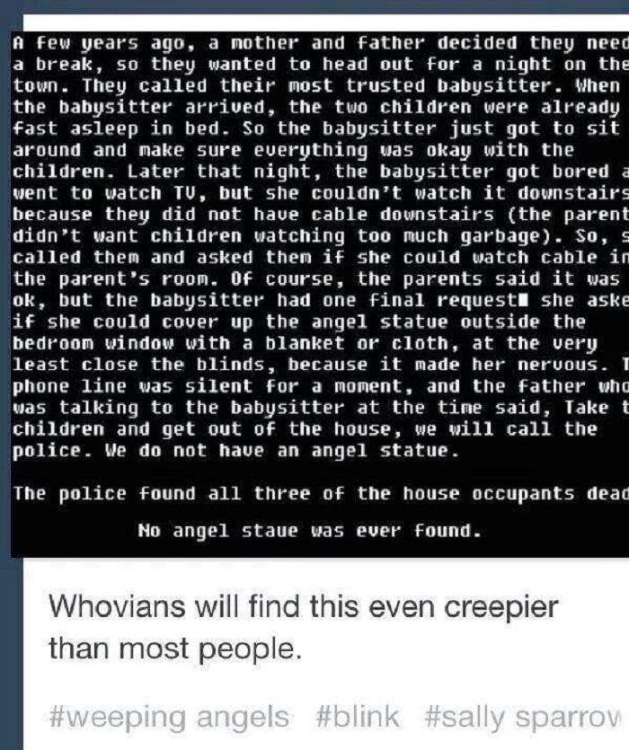 Creepy..