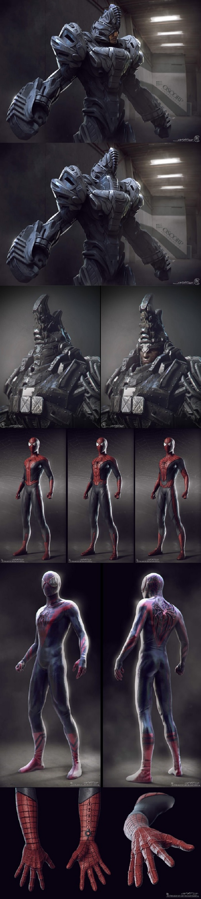 Amazing Spiderman 2 designs