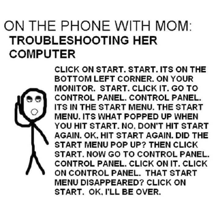 Moms on the computer