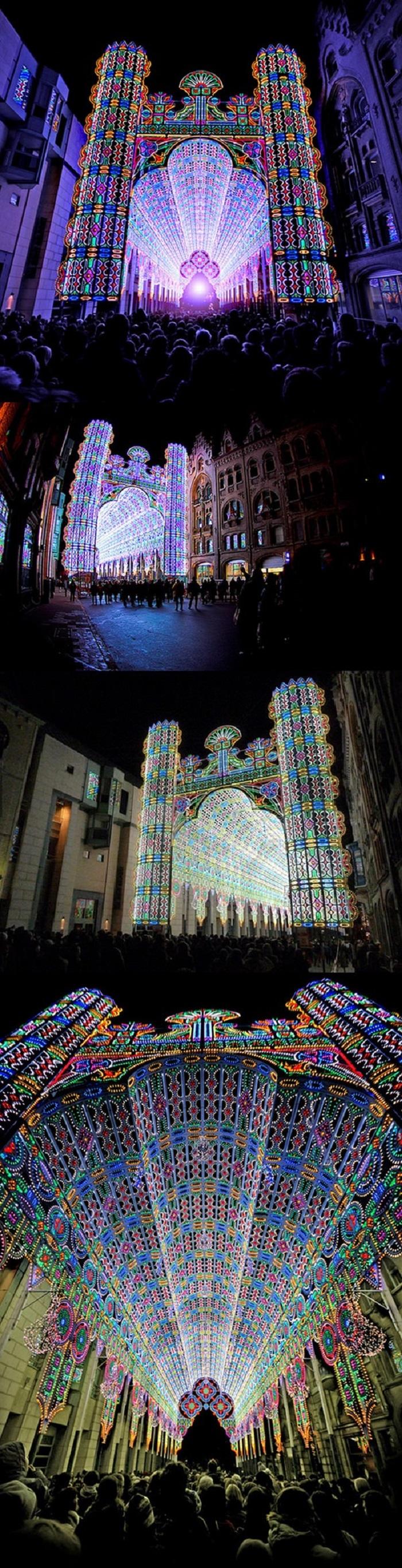 55,000 LED walkway