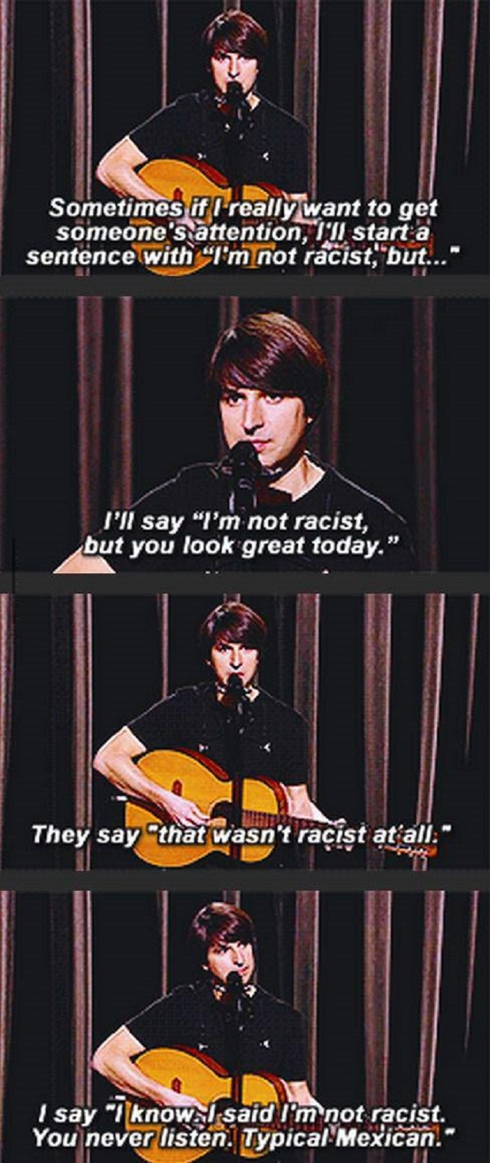 I'm not a racist, but..