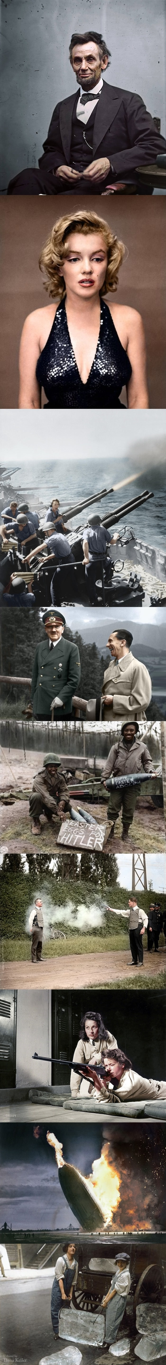 History in colour