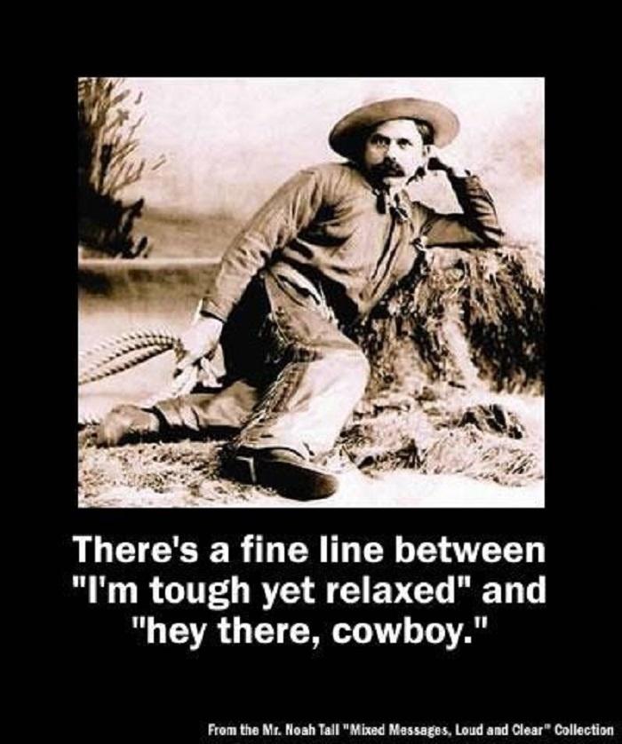 It's a fine line..
