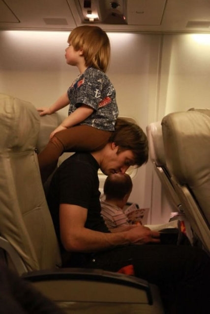 Kid Is Bored During Flight
