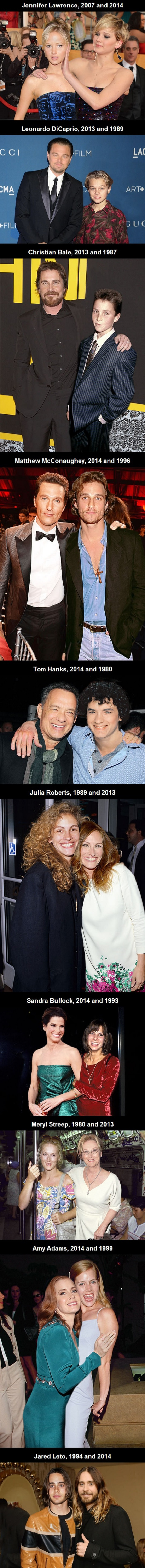 Celebs with younger selves