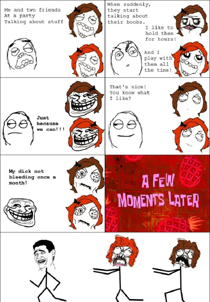 Period joke rage