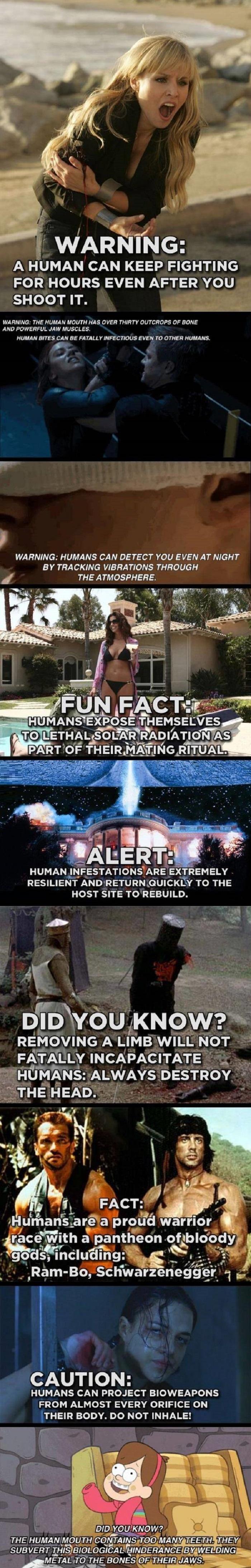 Humans are dangerous