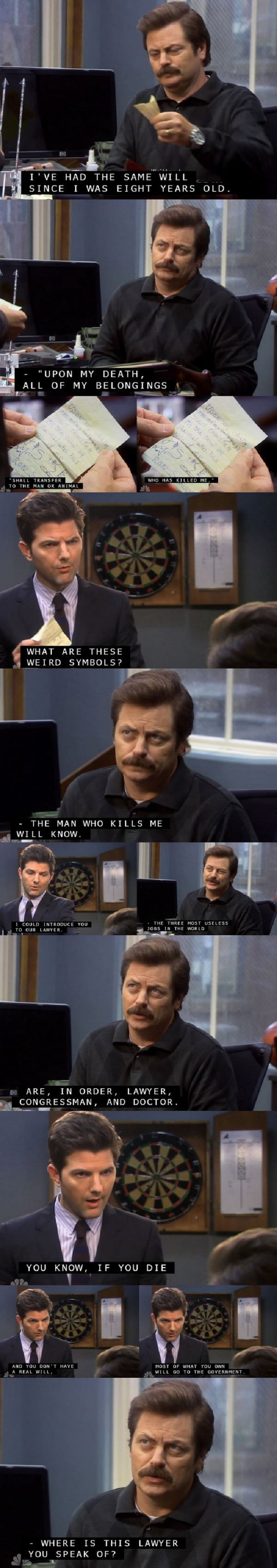 Writing a will, Ron style