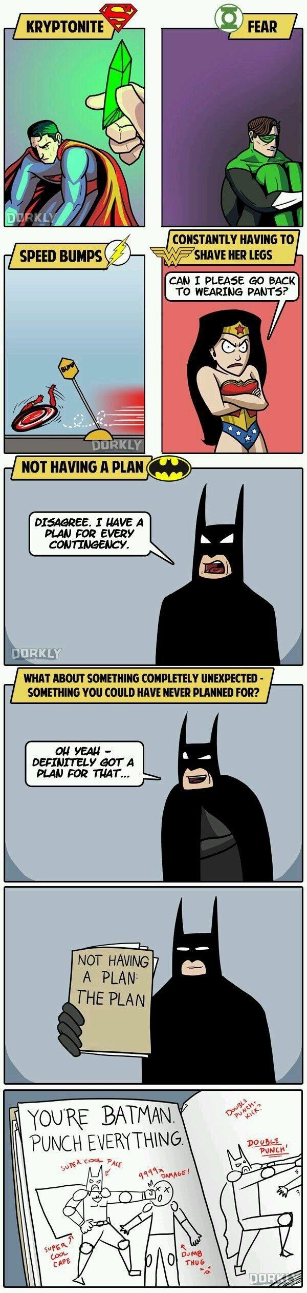 Cause he's Batman!