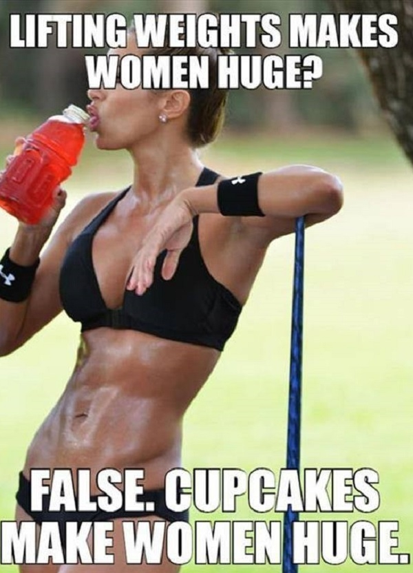 Weights vs. cupcakes