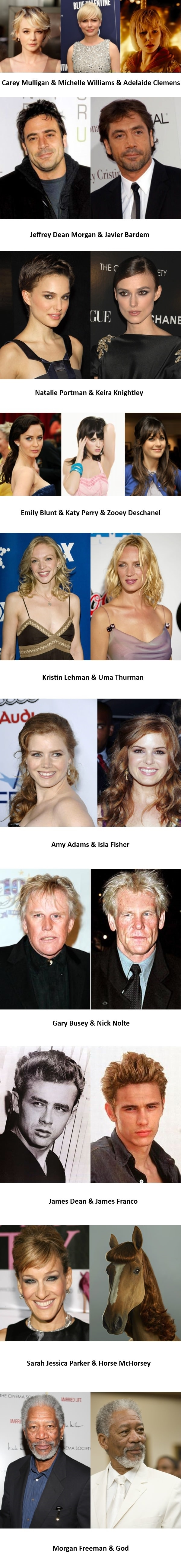 Similar looking celebs
