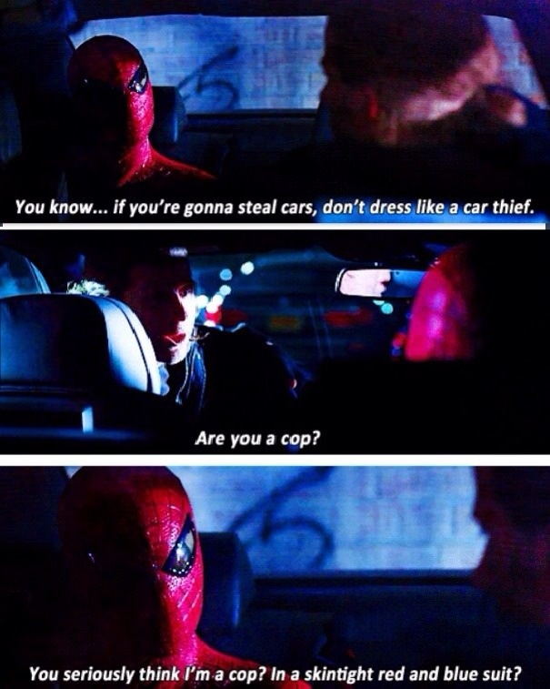 Spidey knows what's up