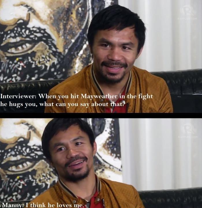 Floyd loves Manny