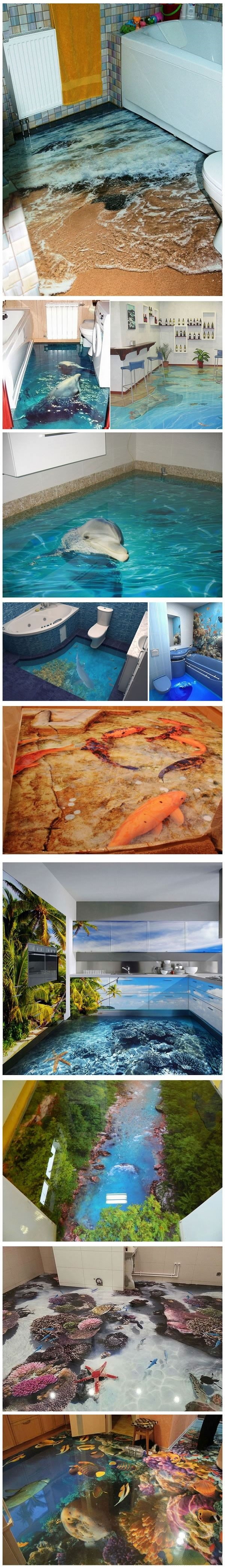 Awesome 3D floor designs