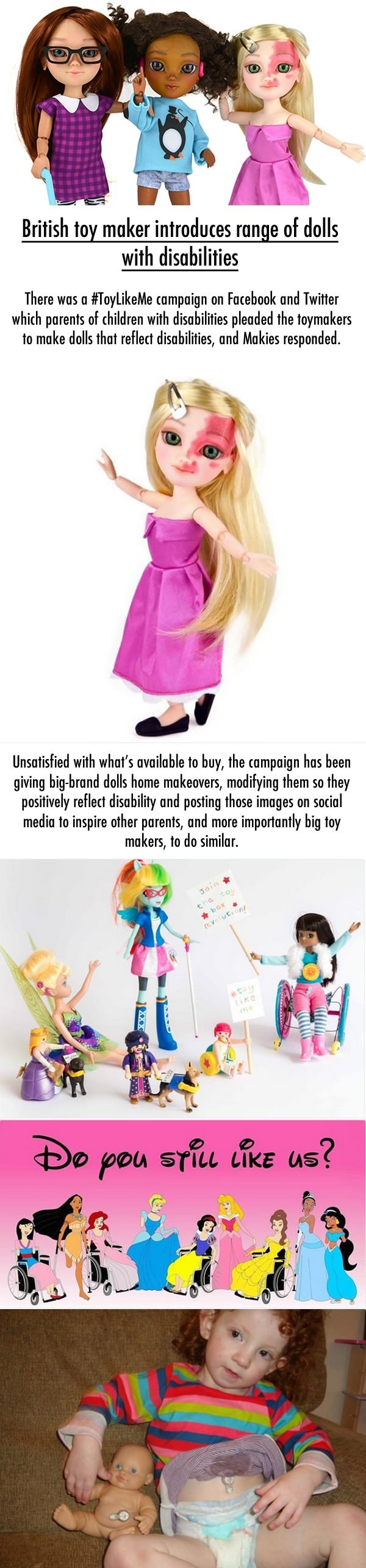 Dolls with disabilities