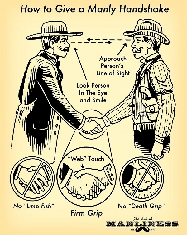 A Manly Handshake