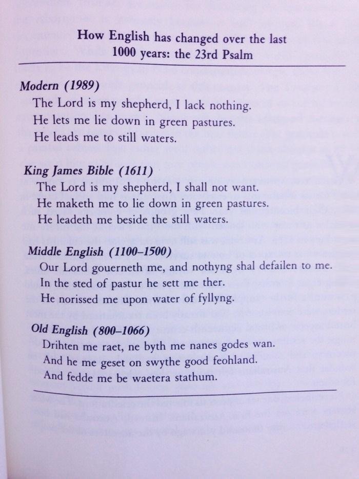 Evolution of English