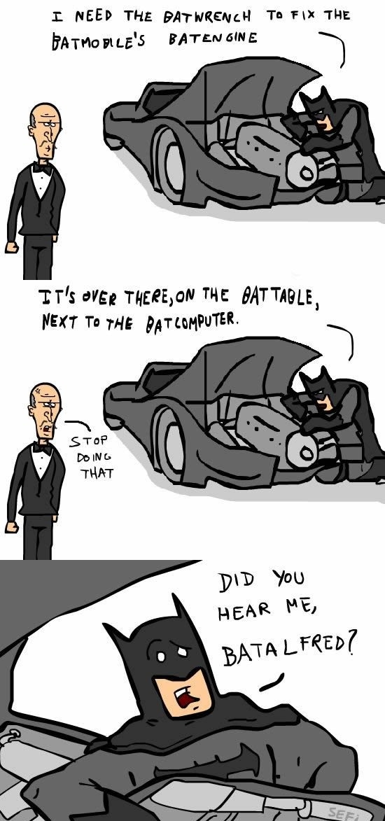 Because he's Batman!