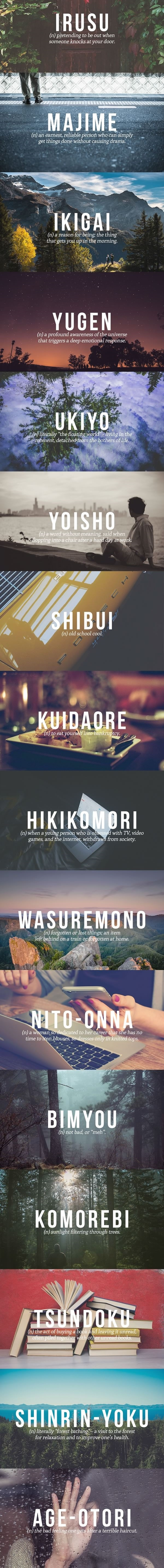 Perfect Japanese words