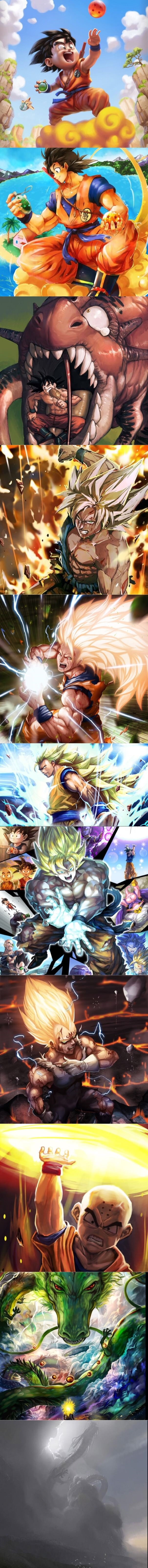 Beautiful DBZ artwork