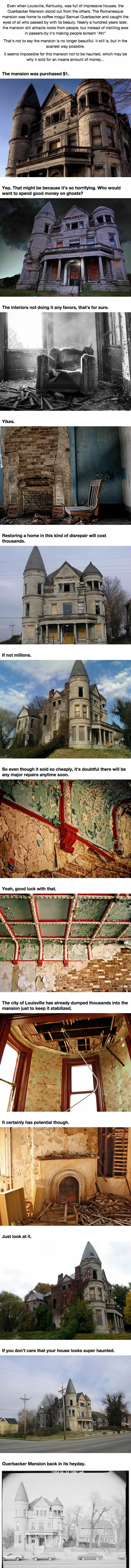 Creepy mansion sold for $1