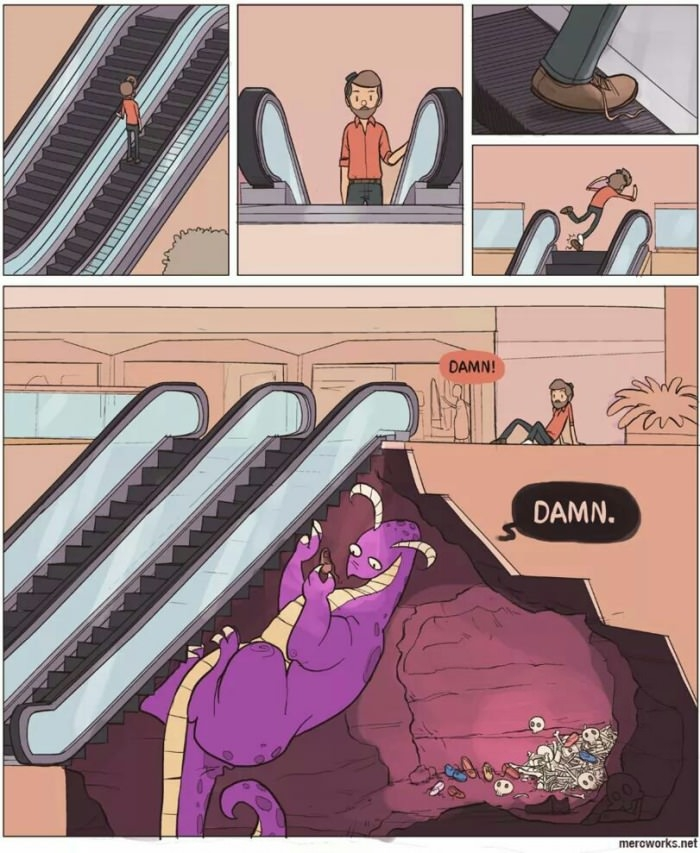 Truth about escalators