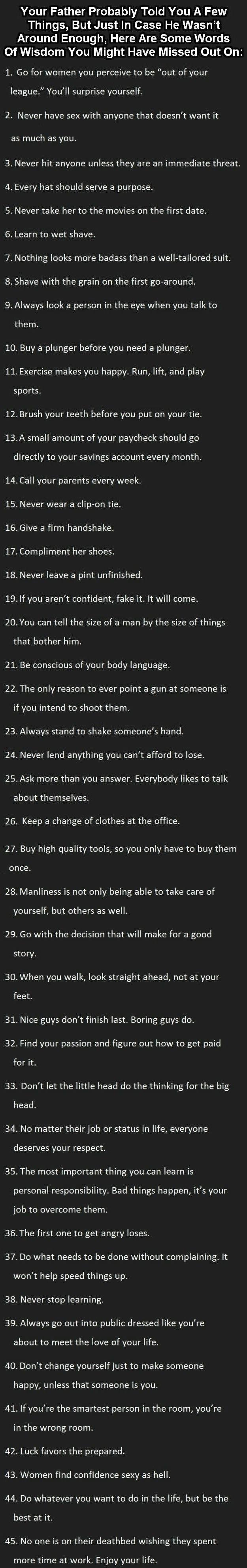 Ultimate tips for men