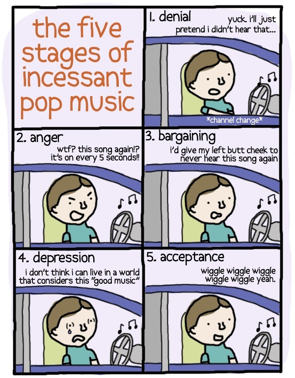 5 stages of pop music