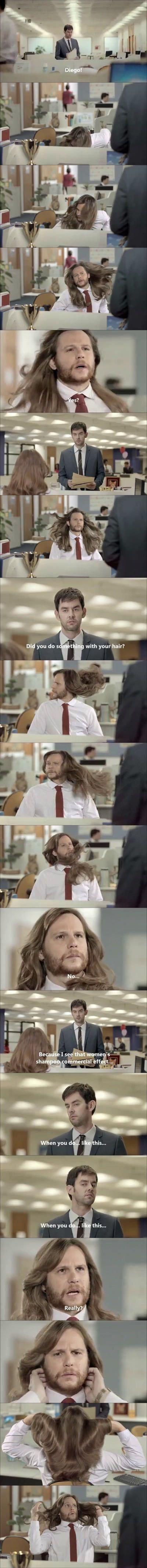 Using womens shampoo