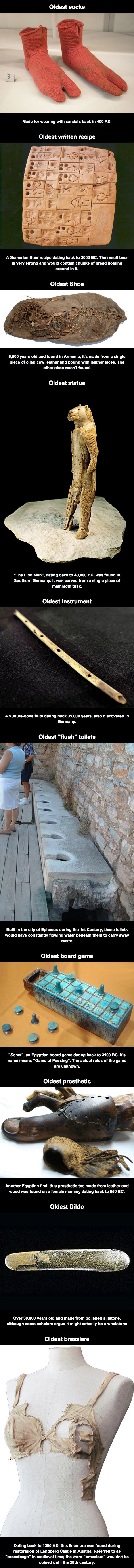 Oldest ordinary things
