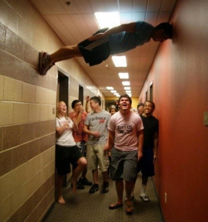 Planking like a boss!