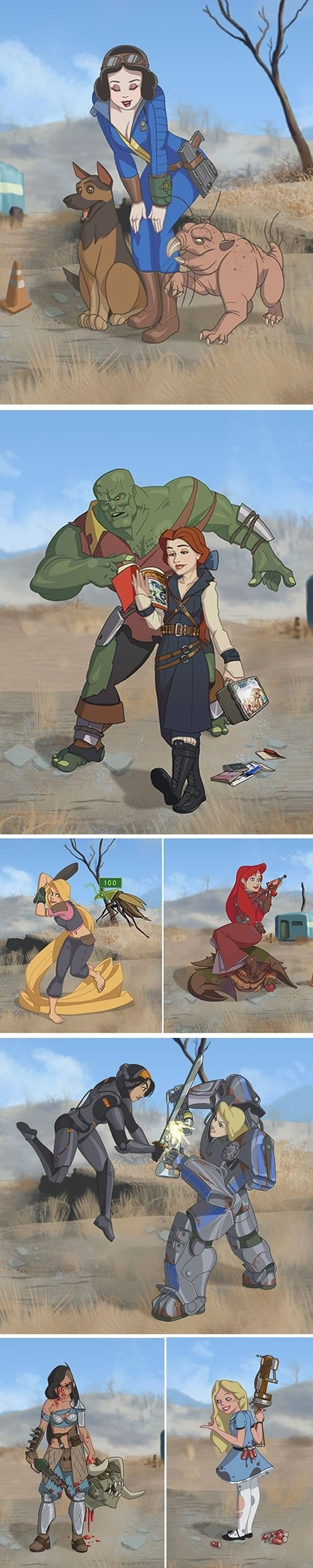 Fallout Disney princesses