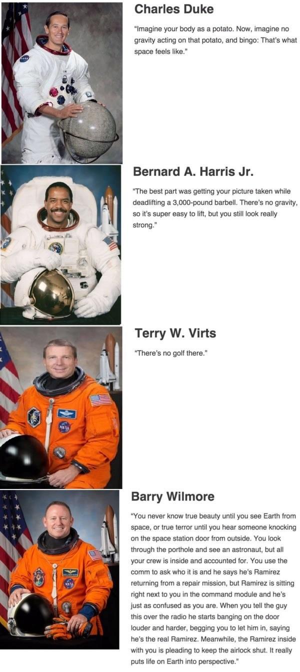 Astronauts describing space
