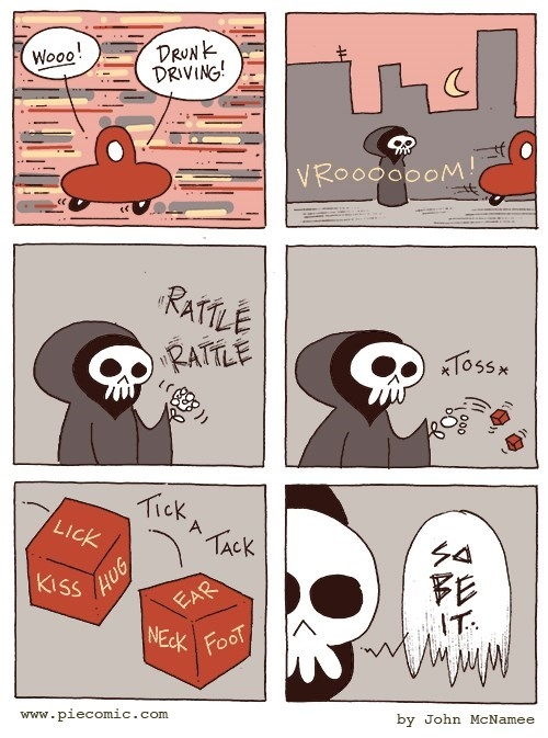 Death is a dice roll away