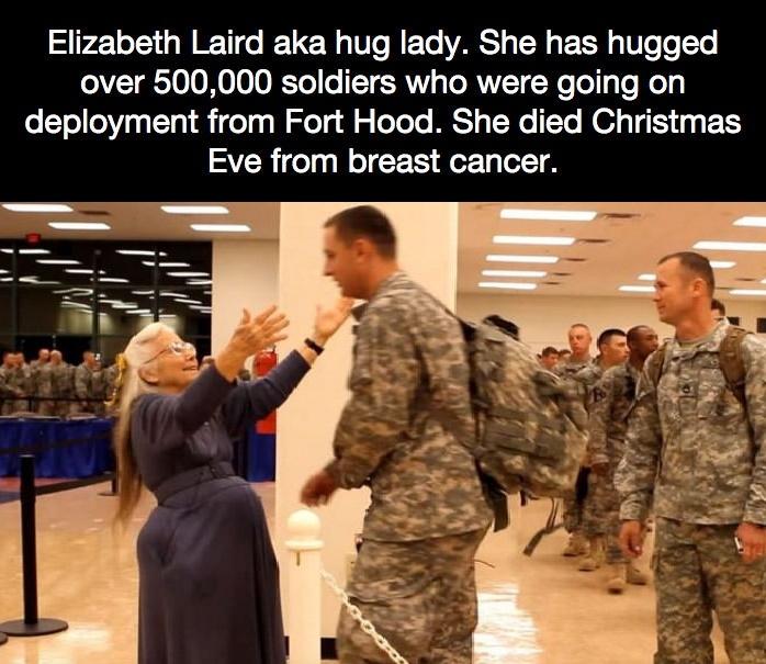 The hug lady