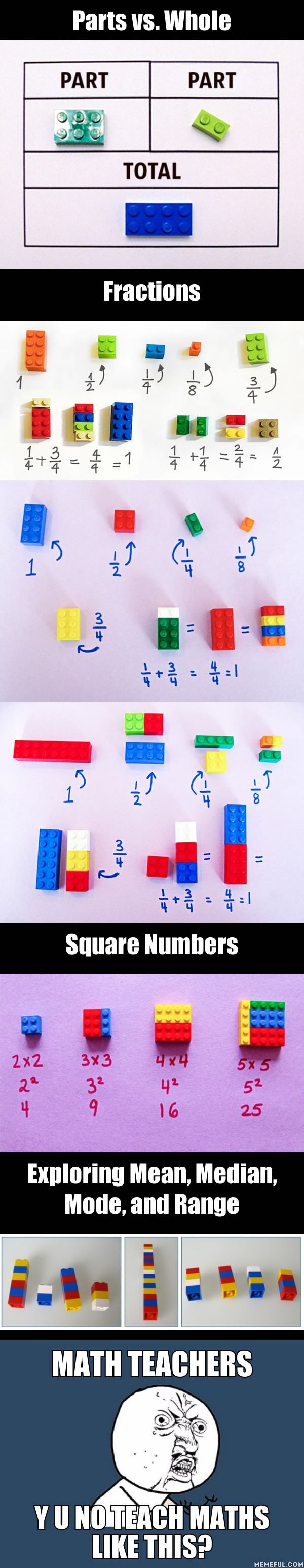 Teach maths with lego